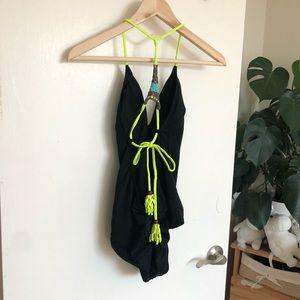 Victoria Secret swimwear with neon string detail